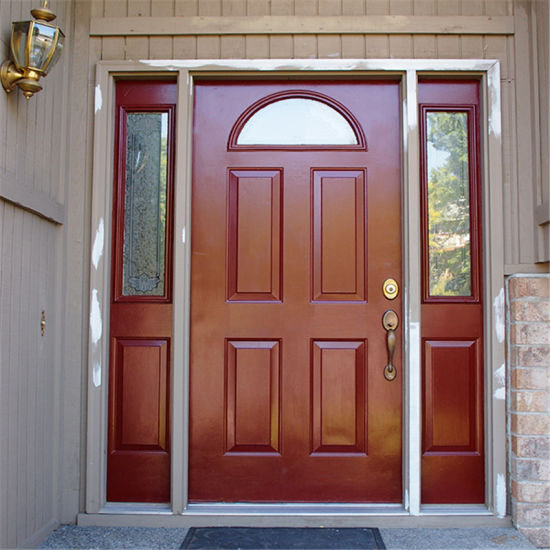 China For House Building Mahogany Solid Wood Main Double Entry Door