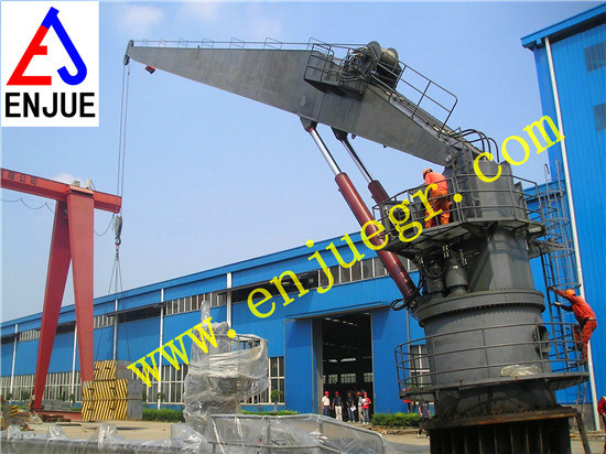 Hydraulic Telescopic Straight Arm Boom Marine Crane Offshore Crane pictures & photos