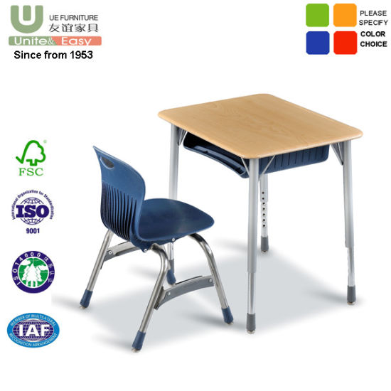 Single Student Desk and Student Chair School Furniture