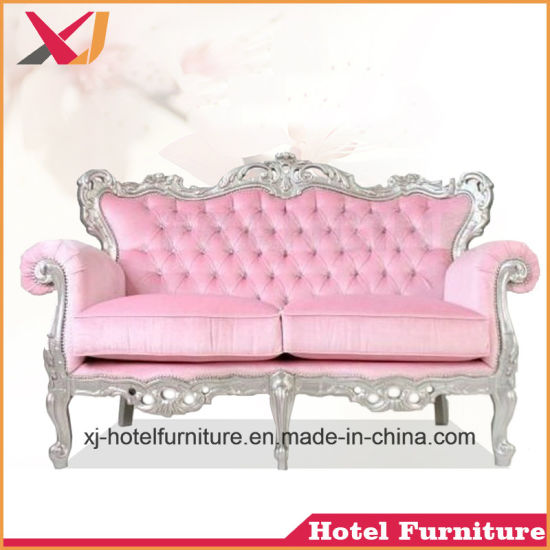 China Luxury Wooden Living Room Double Seat Sofa for Banquet/Wedding ...