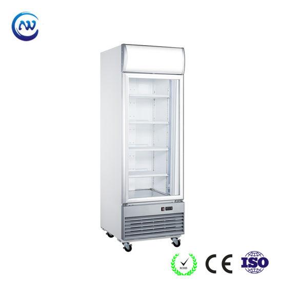 Glass Door Vertical Drink Display Fridge Beverage Refrigerator (LD-430F)
