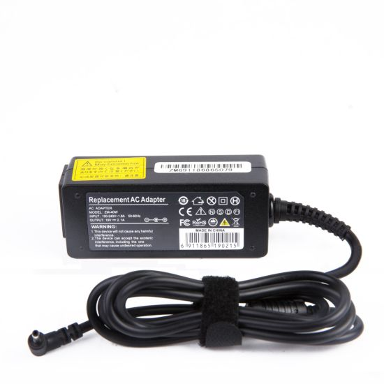 40W 19V 2.1A Charger for Samsung