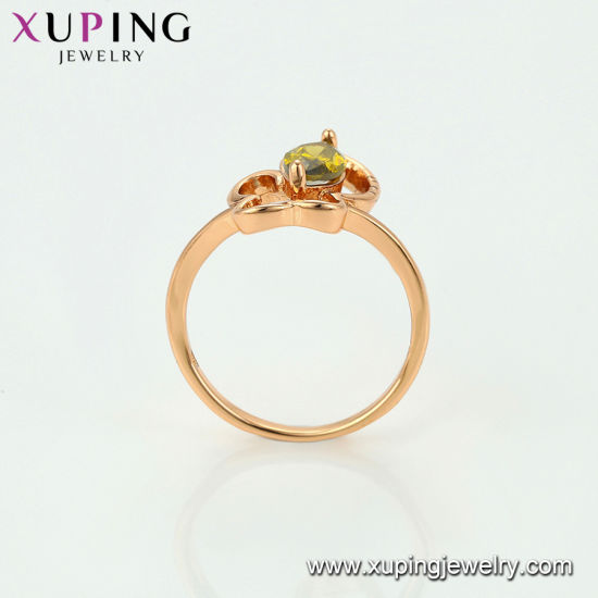 12538 Popular Fashion Heart Design CZ Gold Jewelry Ring pictures & photos
