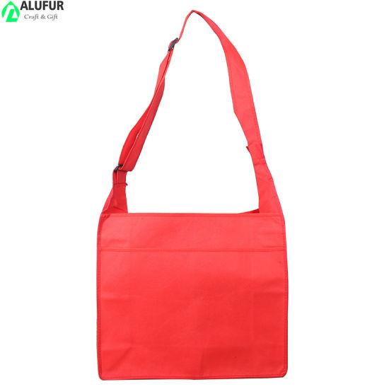 Cheap Adjustable Nonwoven Messenger Advertising Bag