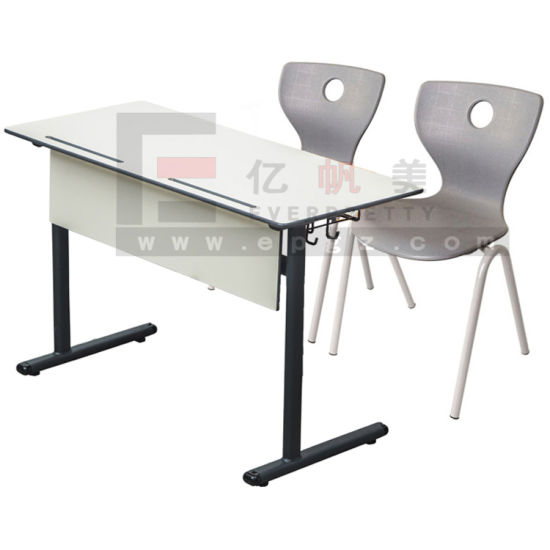 Low Cost College Furniture Double Chair And Table Set, Study Table For  College Students
