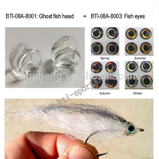 Popular Fly Fishing Tying Material Ghost Fish Heads, Plastic Fish Head pictures & photos