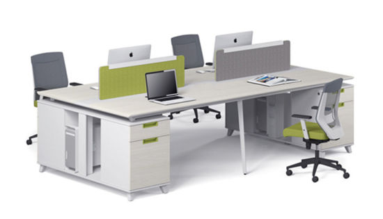 China Modern Design Cheap Price Staff Work Table In White Color