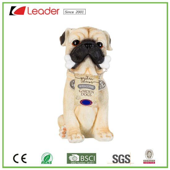 Por Resin 4 Welcome Garden Dog Statue For Home And Outdoor Decoration