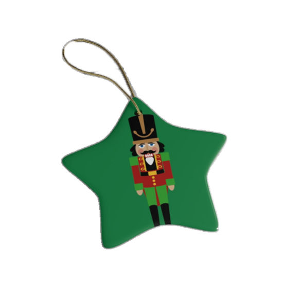 Custom Sublimation Blank Ceramic Christmas Ornaments Flat Christmas Ornament pictures & photos