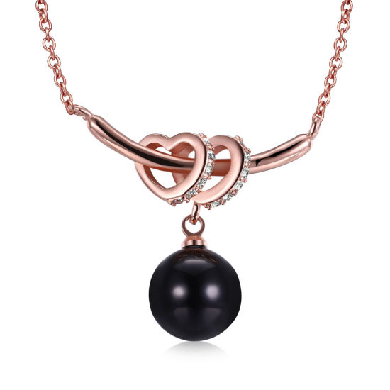 Black Imitation Pearl Necklace Women Rose Gold Fashion Accessories pictures & photos
