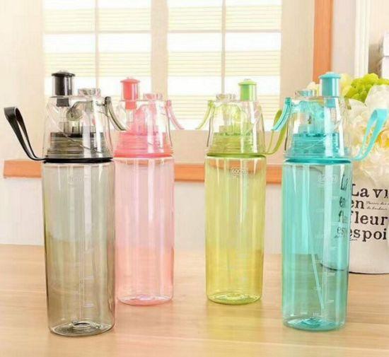 Hot Sale Food Grade Custom Logo Misting Spray Outdoor Sport Drinking BPA Free Water Bottle