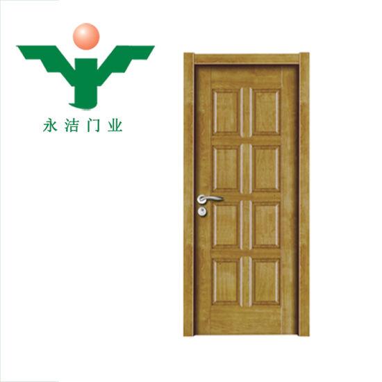 China Zhejiang Manufacture Open Style Swing Pvc Interior Wooden Door