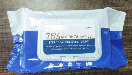 Anti Virus 75% Alcohol Wet Wipes Nonwovens 80pcsdisinfection Wipesno Alcohol Wet Wipesfemale Wipeswet Tissue