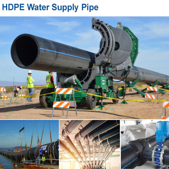 Factory Wholesale Water Polyethylene HDPE Pipe Fittings PE Plastic Pipe Pn6 to Pn16 DN20 to DN1000mm