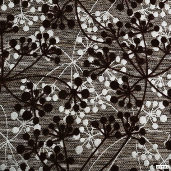 Plain Woven African Heavy Polyester Embroidered Satin Fabric and Flocking Textile for Linen Fabric