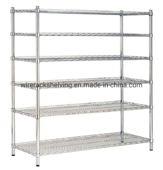 China 72 X48 X18 6 Tier Layer Shelf Adjustable Steel Wire Metal Shelving Rack For Pantry Closet Kitchen Laundry China Wire Shelving And Wire Shelf Price