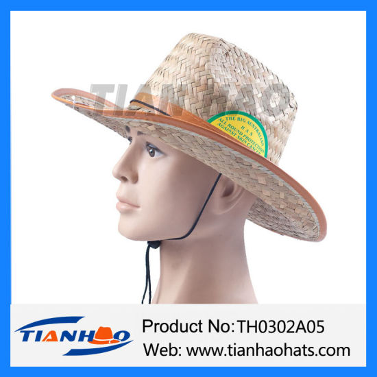 Cheapest Kwai Grass Straw Man Hat for Promotion