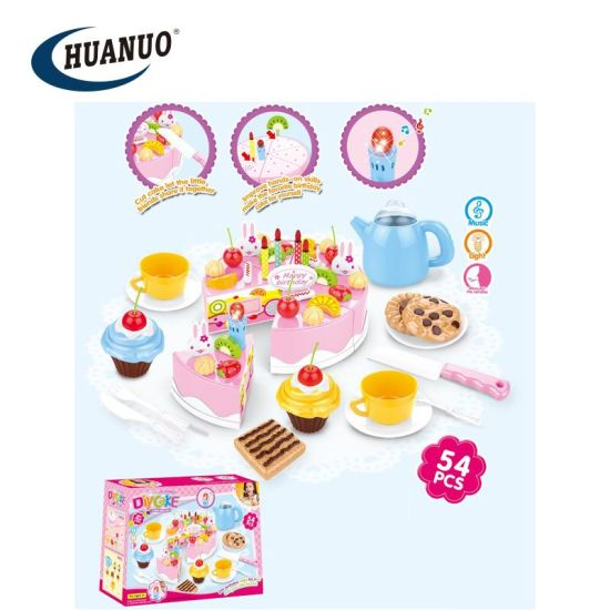 Cool 54Pcs Children Cutting Singing Birthday Cake Toy With Music And Personalised Birthday Cards Paralily Jamesorg