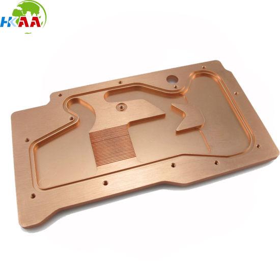 CNC Machined Copper GPU Water Cooling Block Customized Service