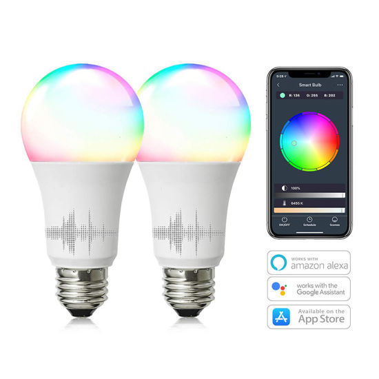 Tp-Link Smart WiFi Light Bulb E27 10W Dimmable Soft Warm White Multi Color  LED Bulbs Works with Amazon Alexa Google Home and Ifttt