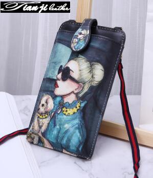 2019 New Mini Printing PU Fashion Phone Bag/Women Wallet/ Lady Purse