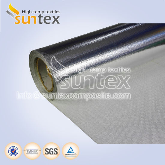 Thermal Insulation Flame Retardant Water Proof Air Duct Flexible Hose Heat Reflective Aluminum Fiberglass Cloth