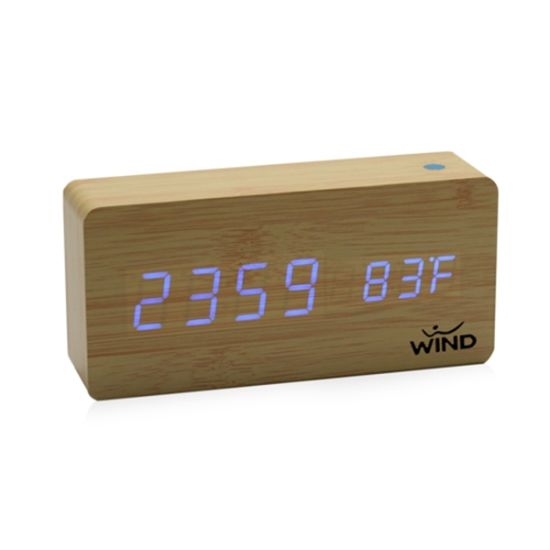 Rectangle Digital LED Wooden Clock pictures & photos