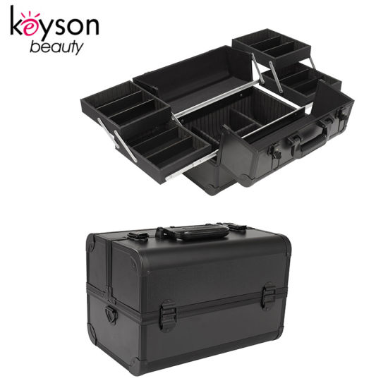 Black Professional Manicurist Carring Case with Compartment for Nail Tools