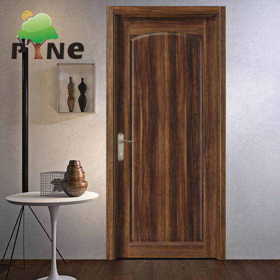 Entrance Laminated MDF/HDF PVC Veneer Soundproof Solid Wooden/Wood Door for Home