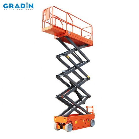 Self-Propelled Electric Scissor Lift Driven Moving Hydraulic Man Lifter