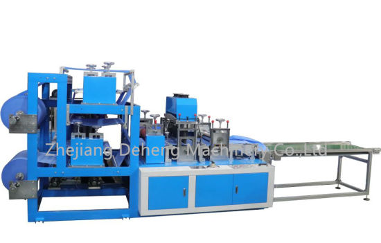 CPE PPE Nonwoven Disposable Shoe Cover, Surgical Protective Boot Cover Making Machine