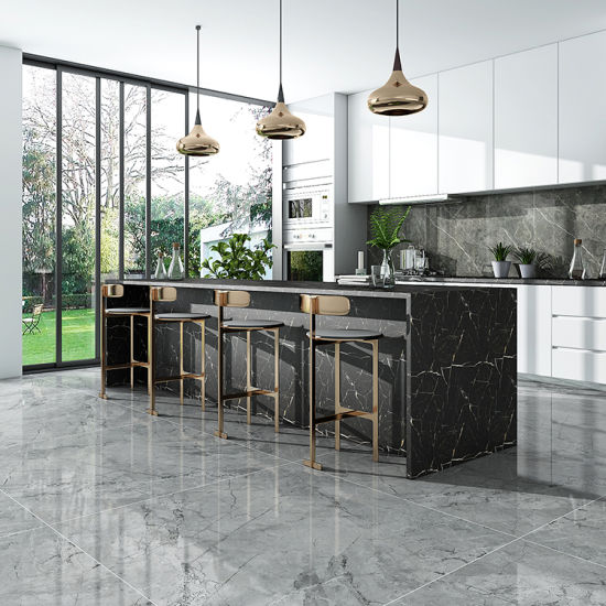 Foshan Fullbody Glazed Polished Porcelain Floor Tile for Kitchen