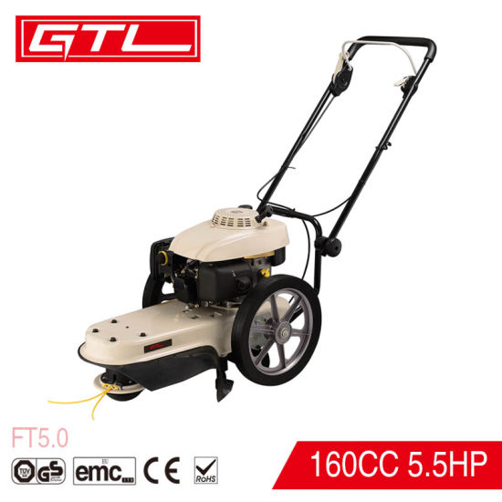 4 Stroke 160cc 5.5HP Wheeled Gasoline Grass Field Trimmer Lawn Mower