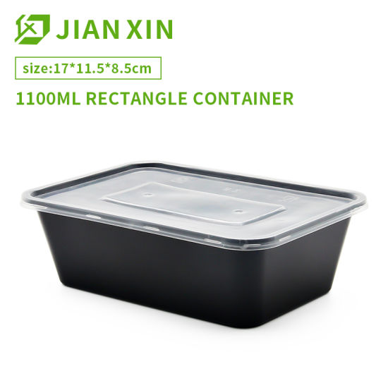 Wholesale Packaging Delivery Disposable PP Plastic Compartment Fast Food Container with Lid pictures & photos