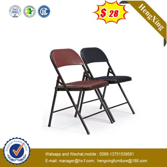 Hot Sell Mesh Fabric Plastic Fabric School Conference Folding Chair pictures & photos