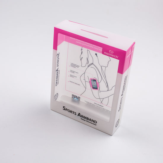 High Quality Custom Transparent PVC Plastic Packaging Box for Armband Packing