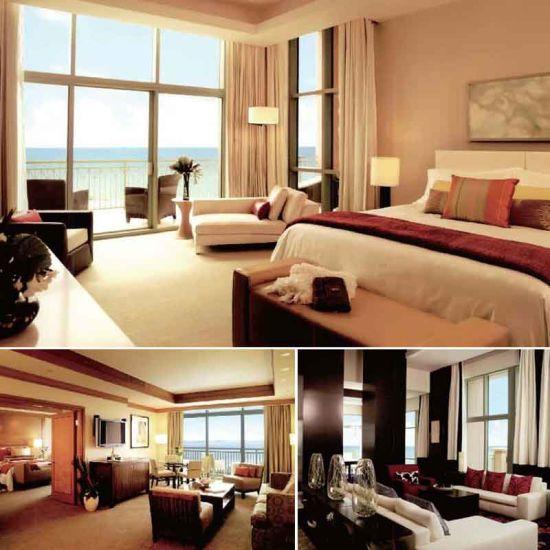 Oak Wood Hotel Bedroom Furniture (EMT-SKB03)