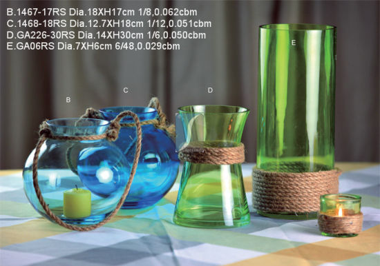 Hot Selling Colorful Glass Vase pictures & photos