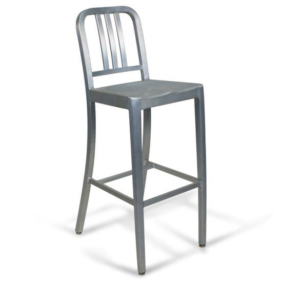 Emeco Dining Restaurant Aluminum Navy High Bar Stools Chairs