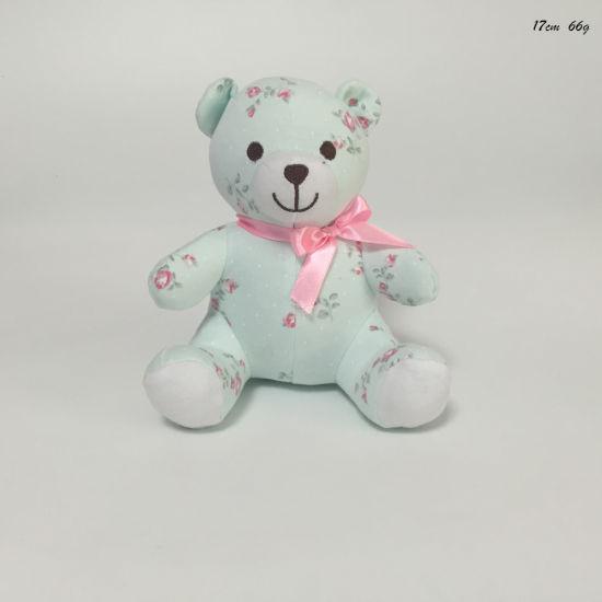 Printed Cotton Infant Plush Stufed Sitting OEM Teddy Bear Toy