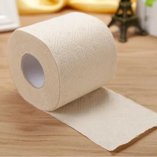 China Wholesale OEM Bathroom Tissue Custom Tissue Paper Roll Soft Virgin Recycled Wooden Pulp Bulk Big Jumbo Roll Toilet Tissue Paper