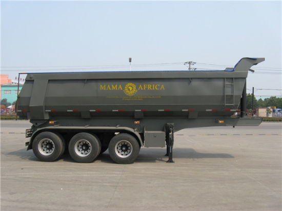 Hyva Cylinder 3-Axle Dumping Semi Trailer pictures & photos