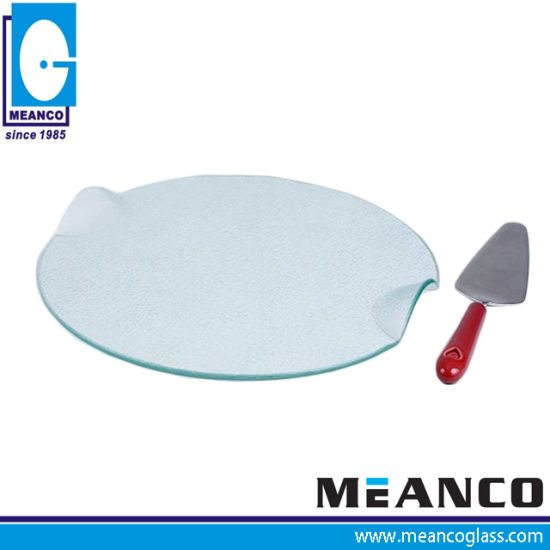 Tempered Glass Kitchenware Baking Pizza Plate pictures & photos