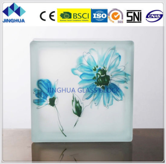 Jinghua High Quality Best Price Artistic P-8 Painting Glass Block/Brick