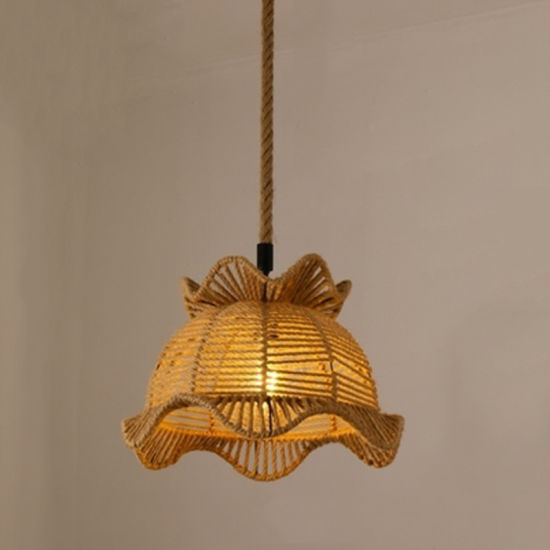 modern Chandelier Light with Rope for Home Lighting