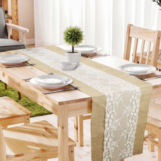Jute Lace Table Runners, Dining Room Table Runners
