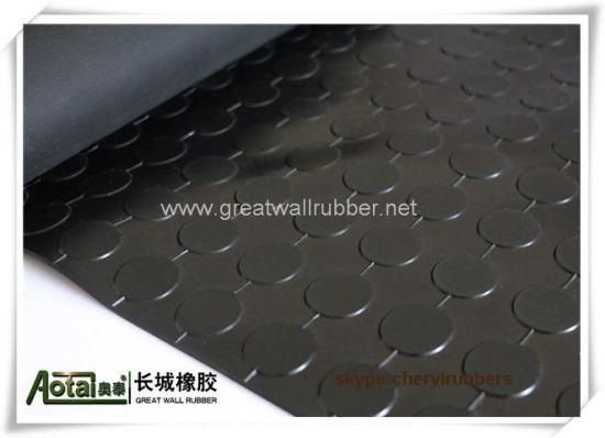 Anti Slip Round On Rubber Floor Mat Rolls