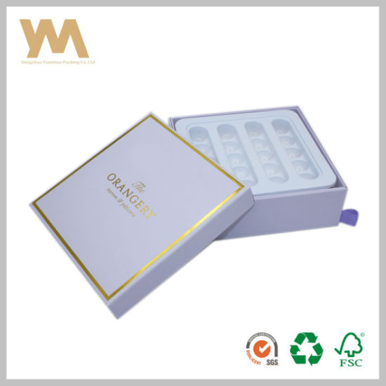 High Quality of Chocolate Packing Gift Box with Plastic Tray
