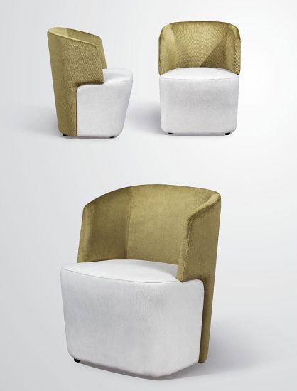 Modern Design Round Fabric Single Seat Sofa