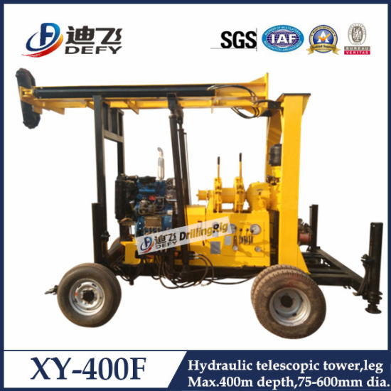 400m Trailer Mounted Borehole Water Well Drilling Rig